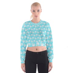 Glitched Candy Skulls Cropped Sweatshirt by VeataAtticus