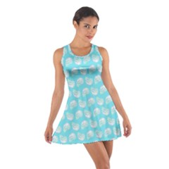 Glitched Candy Skulls Cotton Racerback Dress by VeataAtticus