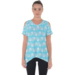 Glitched Candy Skulls Cut Out Side Drop Tee by VeataAtticus