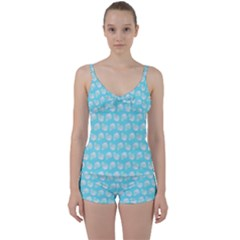 Glitched Candy Skulls Tie Front Two Piece Tankini by VeataAtticus