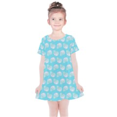 Glitched Candy Skulls Kids  Simple Cotton Dress by VeataAtticus