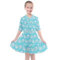 Glitched Candy Skulls Kids  All Frills Chiffon Dress by VeataAtticus