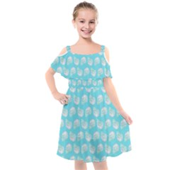 Glitched Candy Skulls Kids  Cut Out Shoulders Chiffon Dress by VeataAtticus
