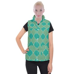 Tiles Arabesque Ottoman Bath Women s Button Up Vest by Wegoenart