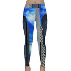 Architecture Frankfurt Houses Classic Yoga Leggings by Wegoenart