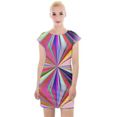 Seamless Repeating Tiling Tileable Abstract Cap Sleeve Bodycon Dress
