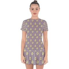 Happy Toast Grey Drop Hem Mini Chiffon Dress by snowwhitegirl