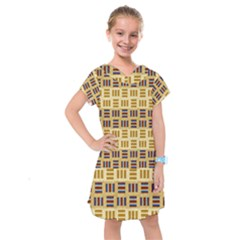 Texture Fabric Material Kids  Drop Waist Dress by AnjaniArt