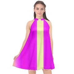 Colors And More Wonderful Colors Halter Neckline Chiffon Dress  by pepitasart
