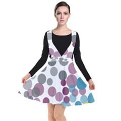 Sahara Street Multi Polka Plunge Pinafore Dress