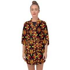 Abp Rby 9 Half Sleeve Chiffon Kimono by ArtworkByPatrick