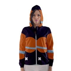 Planet Orbit Universe Star Galaxy Women s Hooded Windbreaker