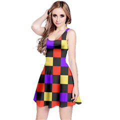 Checkerboard Again Reversible Sleeveless Dress