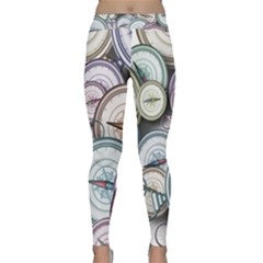 Compass Direction North South East Classic Yoga Leggings