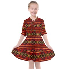 Navajo 0 Kids  All Frills Chiffon Dress by ArtworkByPatrick