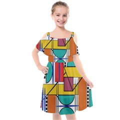 Design 10 Kids  Cut Out Shoulders Chiffon Dress by TajahOlsonDesigns