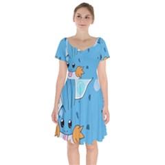 Patokip Short Sleeve Bardot Dress