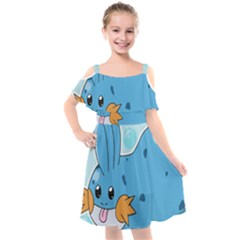 Patokip Kids  Cut Out Shoulders Chiffon Dress by MuddyGamin9
