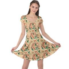 Fox Cap Sleeve Dress