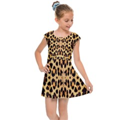 Leopard Skin Kids  Cap Sleeve Dress by ArtworkByPatrick