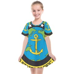 Seal Of Commander Of United States Pacific Fleet Kids  Smock Dress by abbeyz71