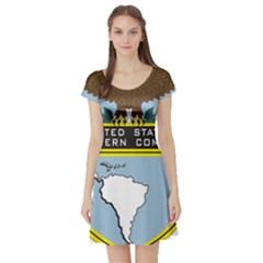 Seal Of United States Southern Command Short Sleeve Skater Dress