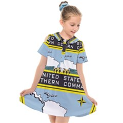 Seal Of United States Southern Command Kids  Short Sleeve Shirt Dress by abbeyz71