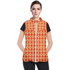 Wallpaper Illustration Pattern Women s Puffer Vest