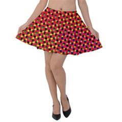 Pattern Textile Structure Abstract Velvet Skater Skirt
