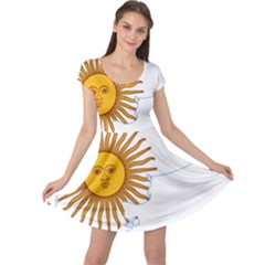 Flag Map Of Argentina & Islas Malvinas Cap Sleeve Dress