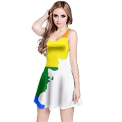 Lgbt Flag Map Of Argentina Reversible Sleeveless Dress