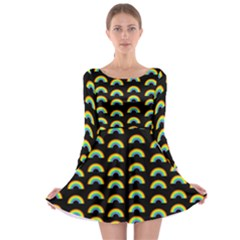 Pride Rainbow Flag Pattern Long Sleeve Skater Dress