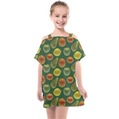 Background Fruits Several Kids  One Piece Chiffon Dress by Jojostore