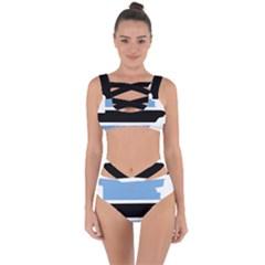 Botswana Flag Map Geography Bandaged Up Bikini Set  by Sapixe