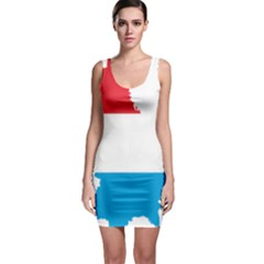 Luxembourg Country Europe Flag Bodycon Dress