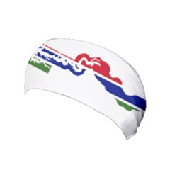 Gambia Flag Map Geography Outline Yoga Headband by Sapixe