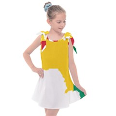 Guinea Flag Map Geography Outline Kids  Tie Up Tunic Dress by Sapixe