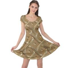 Gold Background Modern Cap Sleeve Dress