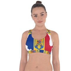 Romania Country Europe Flag Cross String Back Sports Bra by Sapixe