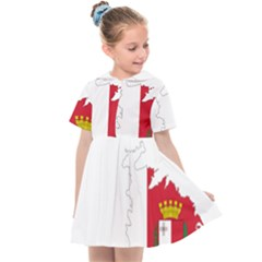 Malta Country Europe Flag Borders Kids  Sailor Dress by Sapixe