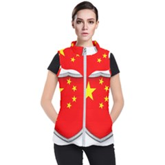 Flag China Country Nation Asia Women s Puffer Vest by Sapixe