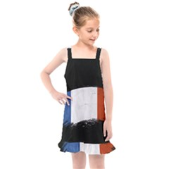 Flag France Flags French Country Kids  Overall Dress by Sapixe