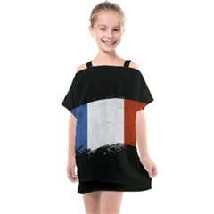 Flag France Flags French Country Kids  One Piece Chiffon Dress by Sapixe