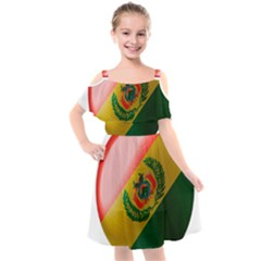 Bolivia Flag Country National Kids  Cut Out Shoulders Chiffon Dress by Sapixe