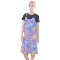 Spring Gardens Pastel Abstract Geometric Pattern Camis Fishtail Dress by CrypticFragmentsColors