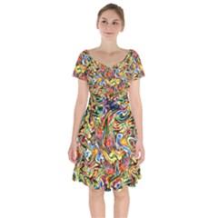 Ornament 1 Short Sleeve Bardot Dress