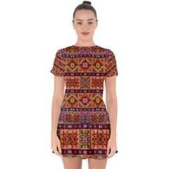 F 1 Drop Hem Mini Chiffon Dress by ArtworkByPatrick