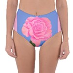 Roses Womens Fashion Reversible High-Waist Bikini Bottoms