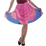 Roses Womens Fashion A-line Skater Skirt