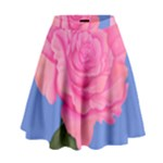 Roses Womens Fashion High Waist Skirt